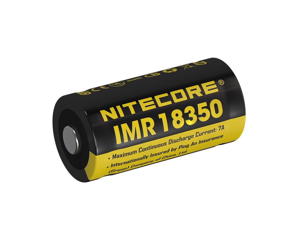 nitecore imr 18350 700mah 3 6v 3 7v 7a li ion akku lithium ionen akkus 18350 nitecore. Black Bedroom Furniture Sets. Home Design Ideas