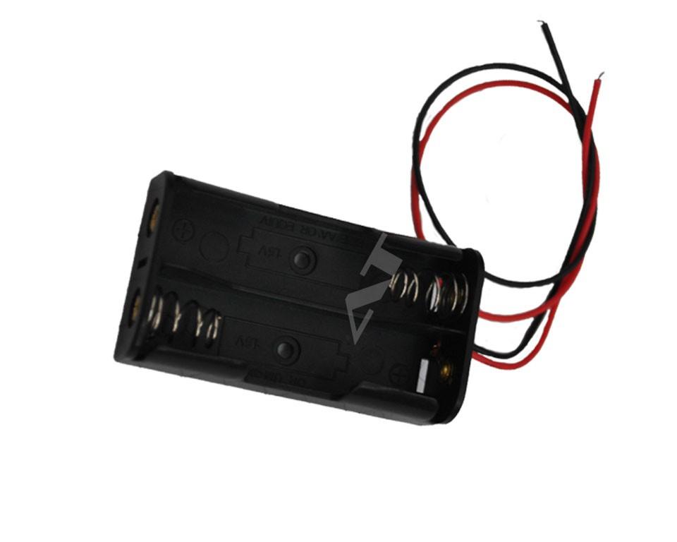 batteriehalter f r 2x 18650 zellen mit anschluss 2s1p zubeh r akku und batteriehalter 18650. Black Bedroom Furniture Sets. Home Design Ideas