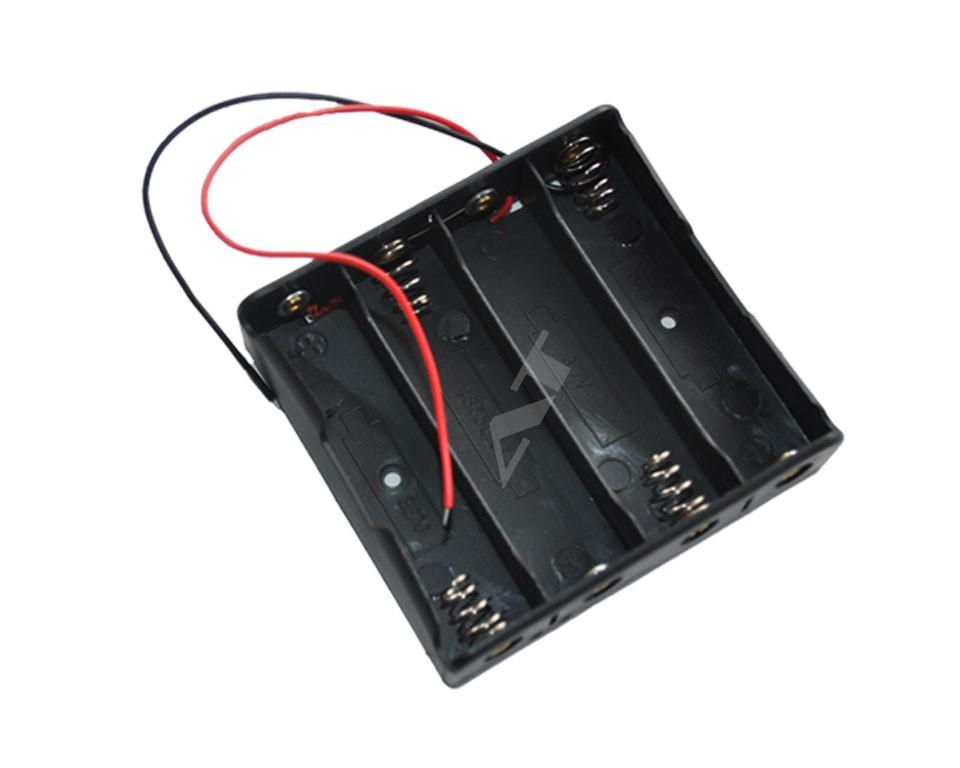 batteriehalter f r 4x 18650 zellen mit anschluss 4s1p zubeh r akku und batteriehalter 18650. Black Bedroom Furniture Sets. Home Design Ideas
